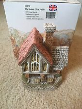 David Winter Cottages Stained Glass Studio Signed Event Special 1999 Coa Box