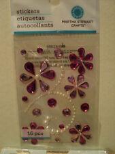Martha Stewart Rosa elegante de desplazamiento piedras preciosas pegatinas BNIP * Para ver *