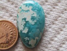 Turquoise Cabochon 20 carat Cab Unknown Origin Mystery Web Blue Green Boulder