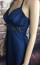Studio 1 midnight blue evening dress with embellished waist size small