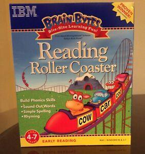 IBM NEW Brain Bytes Reading Roller Coaster Mac/Windows 95 CD-ROM 1998
