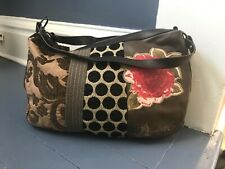 Desigual Shoulder Bag Purse Leather And Fabric
