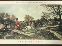 "Antique Herring's Fox-Hunting Scenes Engraving ""End of The Hunt"" Italy 13X18"""