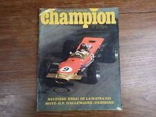 AUTOMOBILE MOTO : Revue CHAMPION No 30 (1968) Matra 630