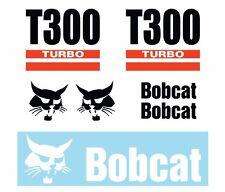 Bobcat T300 Skid Steer Set Vinyl Decal Sticker Aftermarket