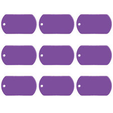 20pcs/lot Purple Military Dog Tags Personalized Disc Disk Custom ID Collar Tags