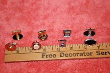Jacques Kreisler, Hickok U.S.A. made 4 Vintage Sets of Cufflinks Swank,