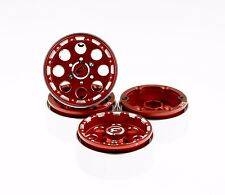 "GDS Racing Four 1.9"" Red Alloy Beadlock Wheel Rim Wide 1"" for RC Model #093RD"