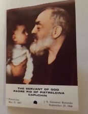 Saint Padre Pio 3rd Class Relic,Novena/Prayer Card New From Italy
