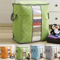 Foldable Storage Bag Cloth Blanket Quilt Closets Sweater OrganizerBox:~-