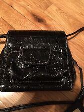 KOLTOV Black Patent Leather(?) Small Organizer Shoulder Bag Purse