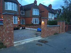 Cast stone copings, walling, driveways, cavity walls