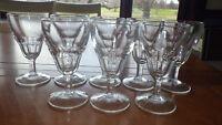 Vintage Federal Glass Cordial Glasses Liqueur Stems 8 3 ounce circa 1945