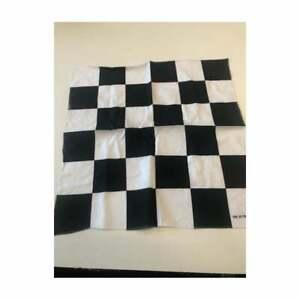 "Black & White Checkered Bandana Motor Racing Motor Bike 20"" square Face Covering"