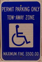 Georgia GA Handicapped Parking Sign 12X18 reflective state specific handicap