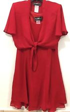 Women's Evening  Cocktail Party Red Dress With Bolero Size 12