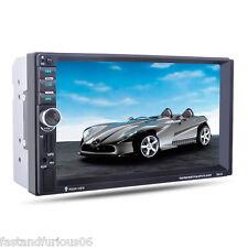 """7"""" HD Car GPS MP5 Player Bluetooth 2 DIN FM/AUX-IN/USB/SD 1080P Controllo remoto"""