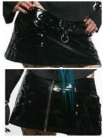 Lip Service Back Zip Mini Skirt XL PVC Gothic Cyber Vampire Underworld Fetish