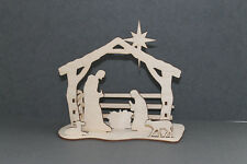 Wood Nativity Scene Model Plywood Wooden paint your own - 100% GOES TO CHARITY