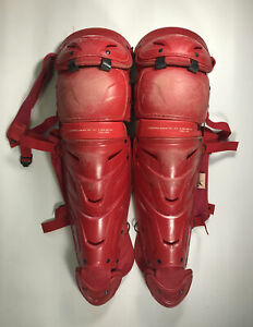 Men's Red All Star LG40WPRO Catcher's Leg Guards