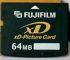 Fuji 64 MB XD card, fatta in Corea.