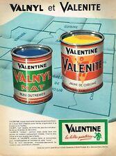A- Publicité Advertising 1962 La peinture Valentine