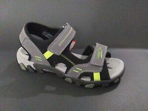 New $80 SUPERFIT Kids Boys Hiking Sport Sandals Gray LEATHER Sz 4 USA/36 EURO