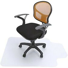 "Vinyl PVC Plastic Chair Mat,48""x 36"" Carpet Floor Protection Chiarmat with Lip"