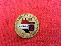 10TH MOUNTAIN DIVISION IRAQI FREEDOM HAT/LAPEL PIN