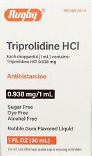 Rugby Triprolidine HCl Antihistamine, Bubble Gum Flavor 1 fl oz - Exp 02-2022