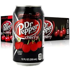 Dr Pepper Cherry 355 ml Boîtes (pack de 24) American