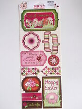 BO BUNNY CARDSTOCK STICKERS - EGG-STRAVAGANZA Easter