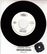 "GARTH BROOKS Longneck Bottle 7"" 45 rpm record NEW + juke box title strip RARE!"