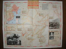 IMAGES OF WAR WWII CAMPAIGN MAP MANCHURIAN BLITZKRIEG CHINA AUG TO SEPT 1945