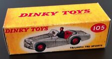 Dinky 105 Triumph TR2 Sports Empty Repro Box Only