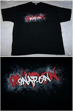 NEW SNAP ON TOOLS T-SHIRT BLACK WITH EXPLODING RED WHITE LOGO SIZE LARGE