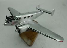 Beechcraft Model 18 Twin Beech Airplane Mahogany Kiln Dry Wood Model Small New