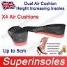 NEW Dual Air Cushion Heel Lift Height Increase Insoles: Extra Heel Cushioning