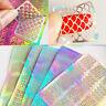 New 3 Sheets Irregular Pattern Hollow Nail Art Manicure Stencil Stickers Ramdom
