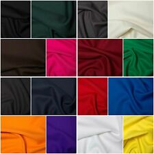 """Polyester Twill Plain Colours Fabric Material 150cm Wide (59"""") Dressmaking"""