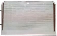 LandRover Defender 90/110 1985-2015 Rear Window -No Brake Light- Round Corners