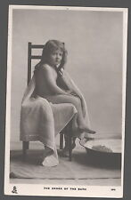MB6071  NAKED GIRL ON A CHAIR  , THE ORDER OF THE BATH, RPPC  RAPHAEL TUCK