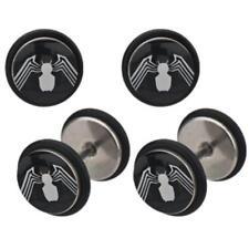Earrings Rings Fake Spiderman Cheater Plug 18 gauge - Sold as a pair