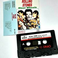 THE ROLLING STONES STEEL WHEELS IMPORT CASSETTE TAPE ALBUM THOMSUN SAUDI
