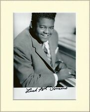 FATS DOMINO BLUEBERRY HILL PP 8x10 MOUNTED SIGNED AUTOGRAPH PHOTO