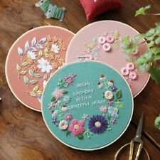 Home Decor 3D Embroidery Flower Hand-embroidered Diy Handcraft Cross Stitch Kits