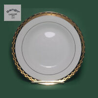 "Sango Caroline Soup Bowl 8"" Porcelain with Gold Trim"