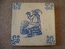 17th Century Delft tile depicting card player  21/117B
