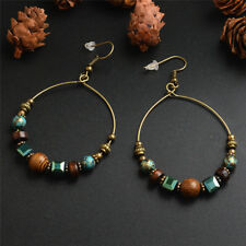 Bohemia Drop Dangle Earrings  Ethnic Big Circle Crystal Bead Ear Stud  JewleryEB