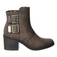 Ladies Girls Rocket Dog Dundee Ankle Boots Low Heel Black Grey Nutmeg Size New
